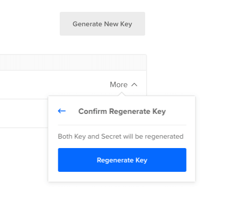 Confirm Regenerate Access Key