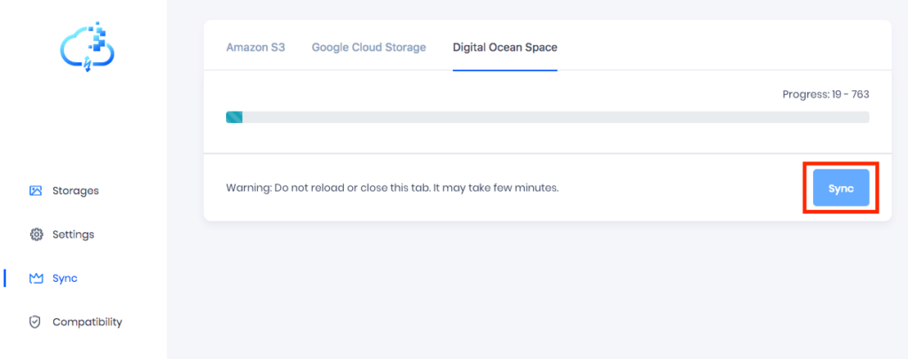 Sync Media to DigitalOcean Space