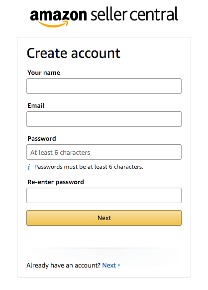 Account Credentials Amazon Seller Central