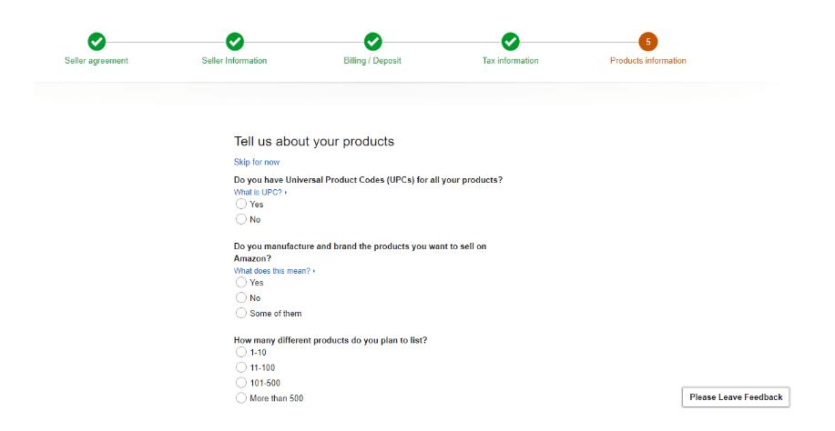 Product Information Amazon