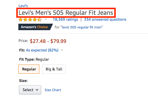 Product Title on Amazon Seller Central