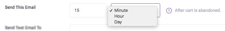 Email intervals