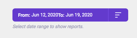 Date range Reports