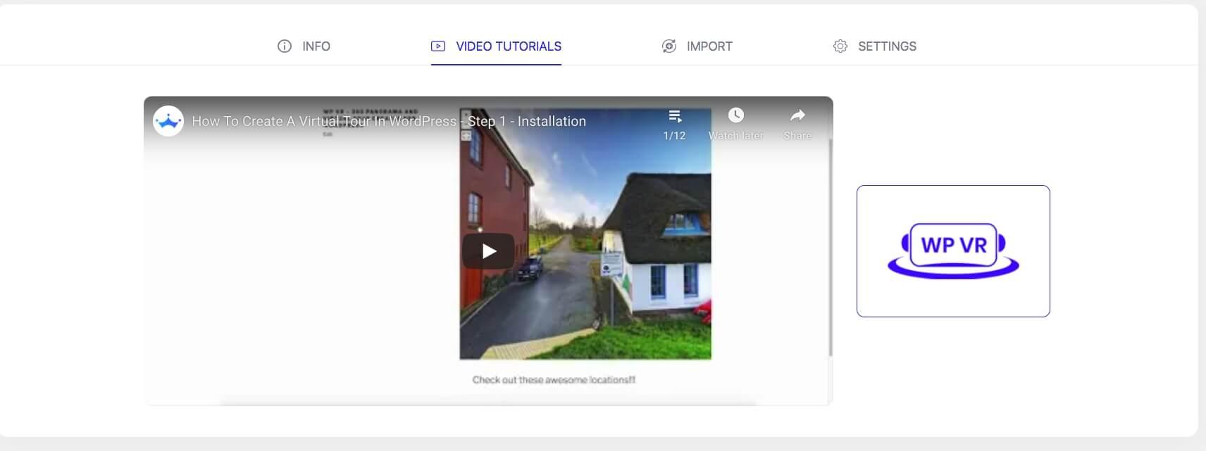 WPVR - Get Started - Video Tutorials