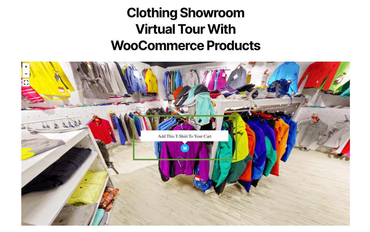 integration WooCommerce store to a virtual tour on your site