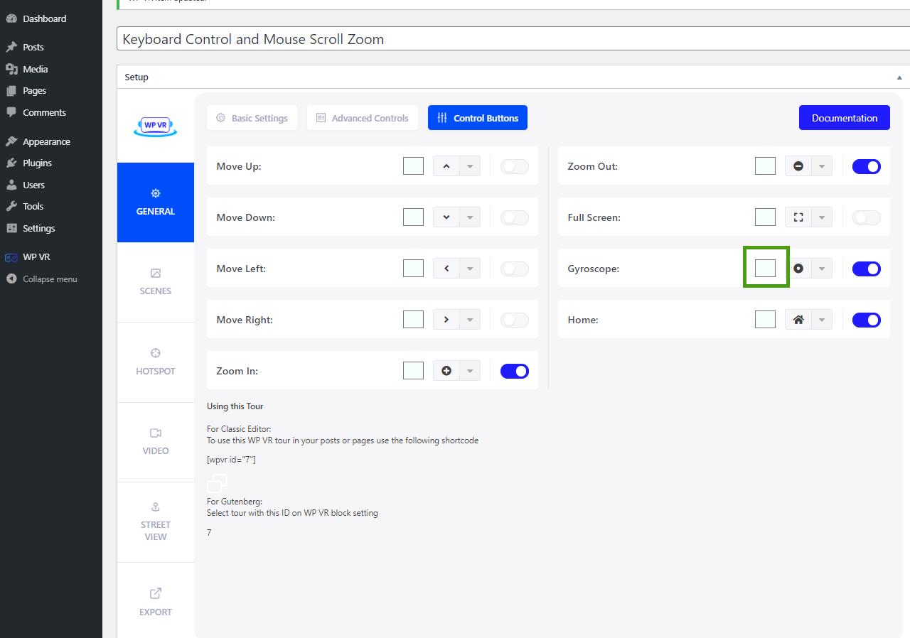 Edit Color of Control Button