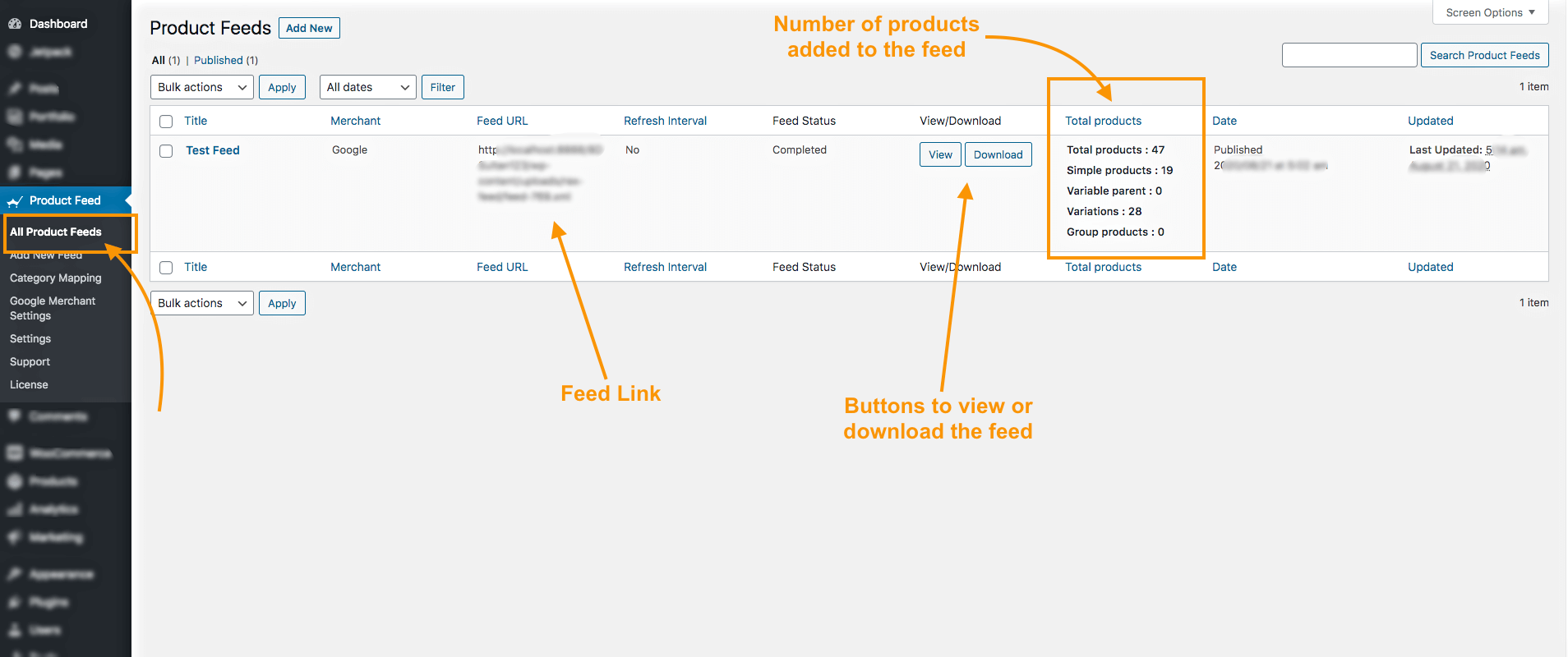 All Product Feeds