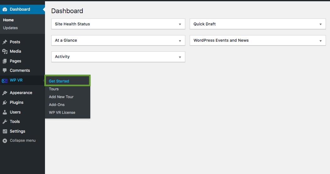 WPVR Installed Dashboard