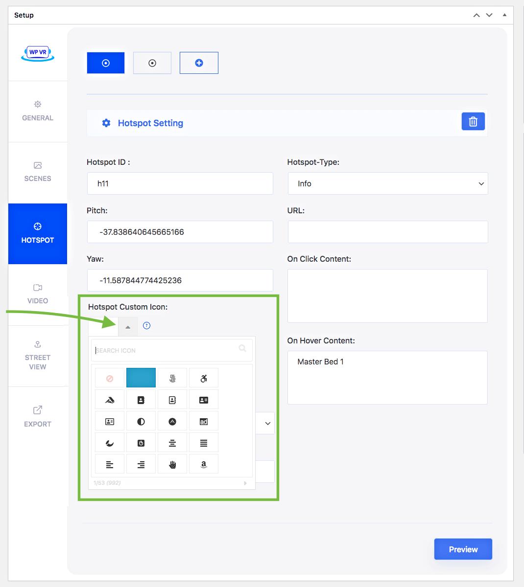 Custom hotspot icons - Fontawesome icons