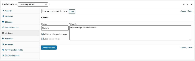 Custom Attribute Configured