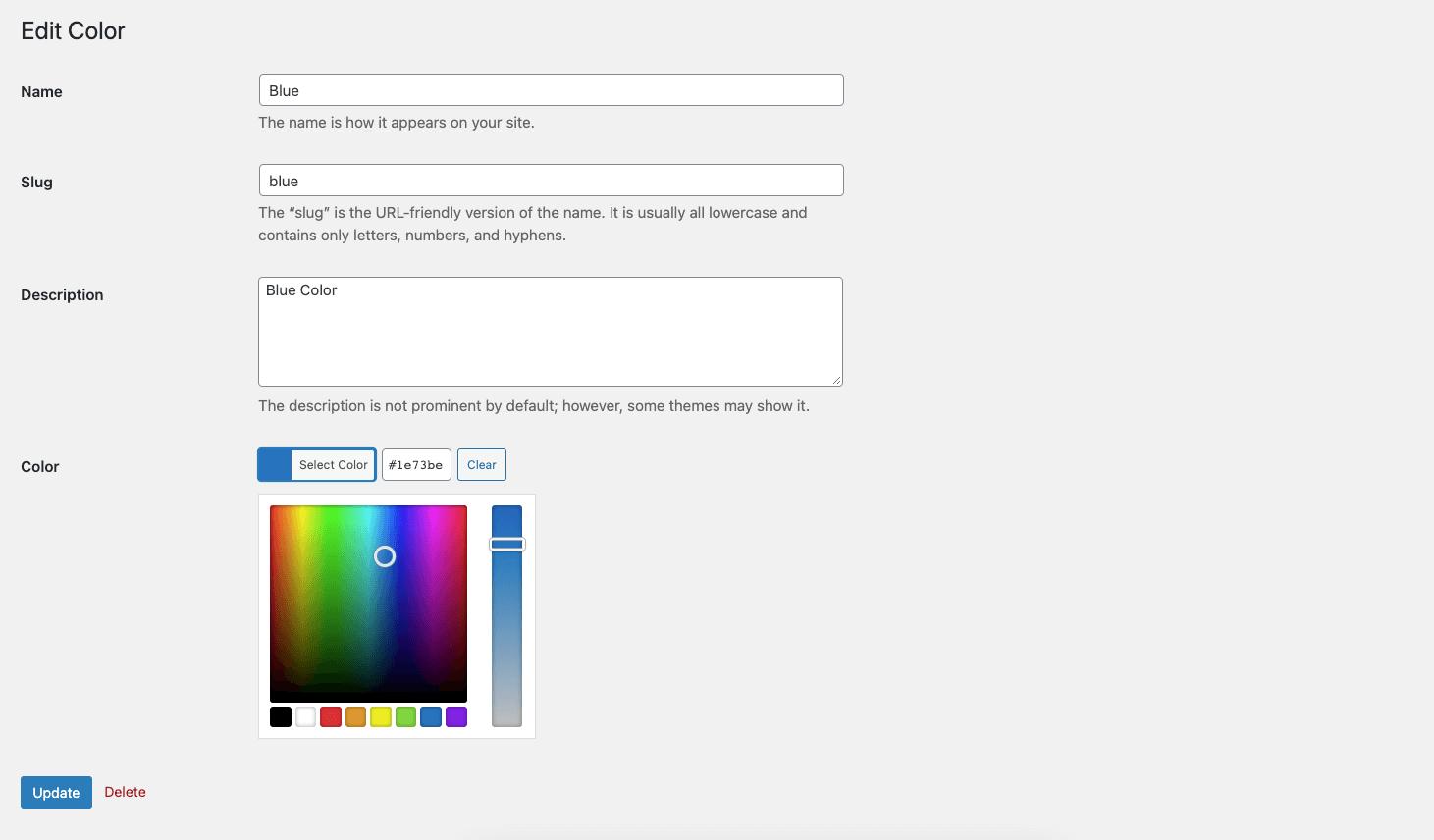 Assign a Color