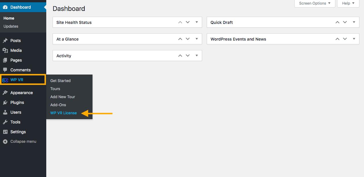 Tab Options WPVR