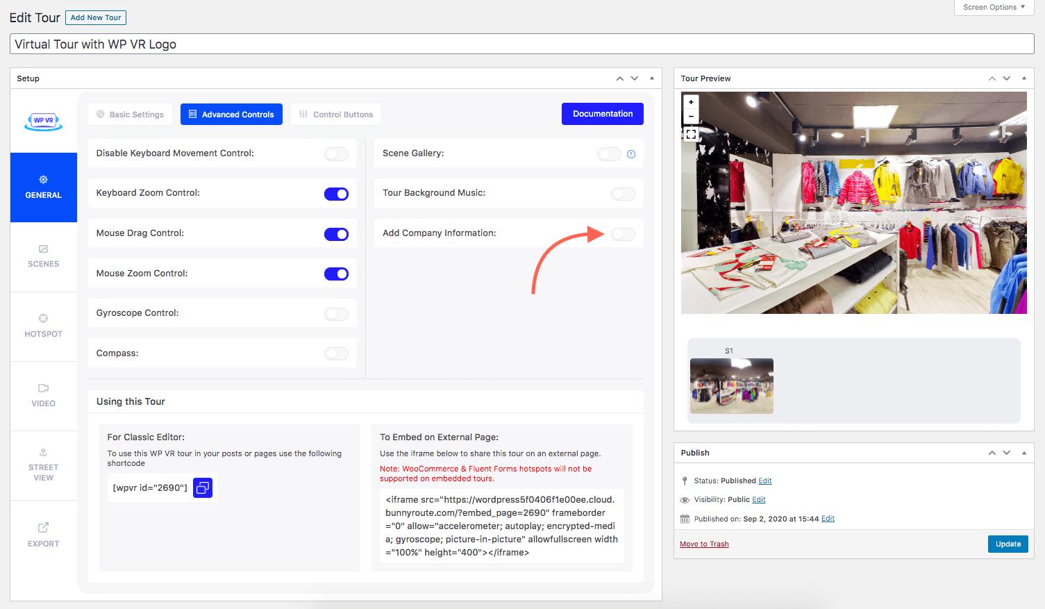 Option - Add Company Information