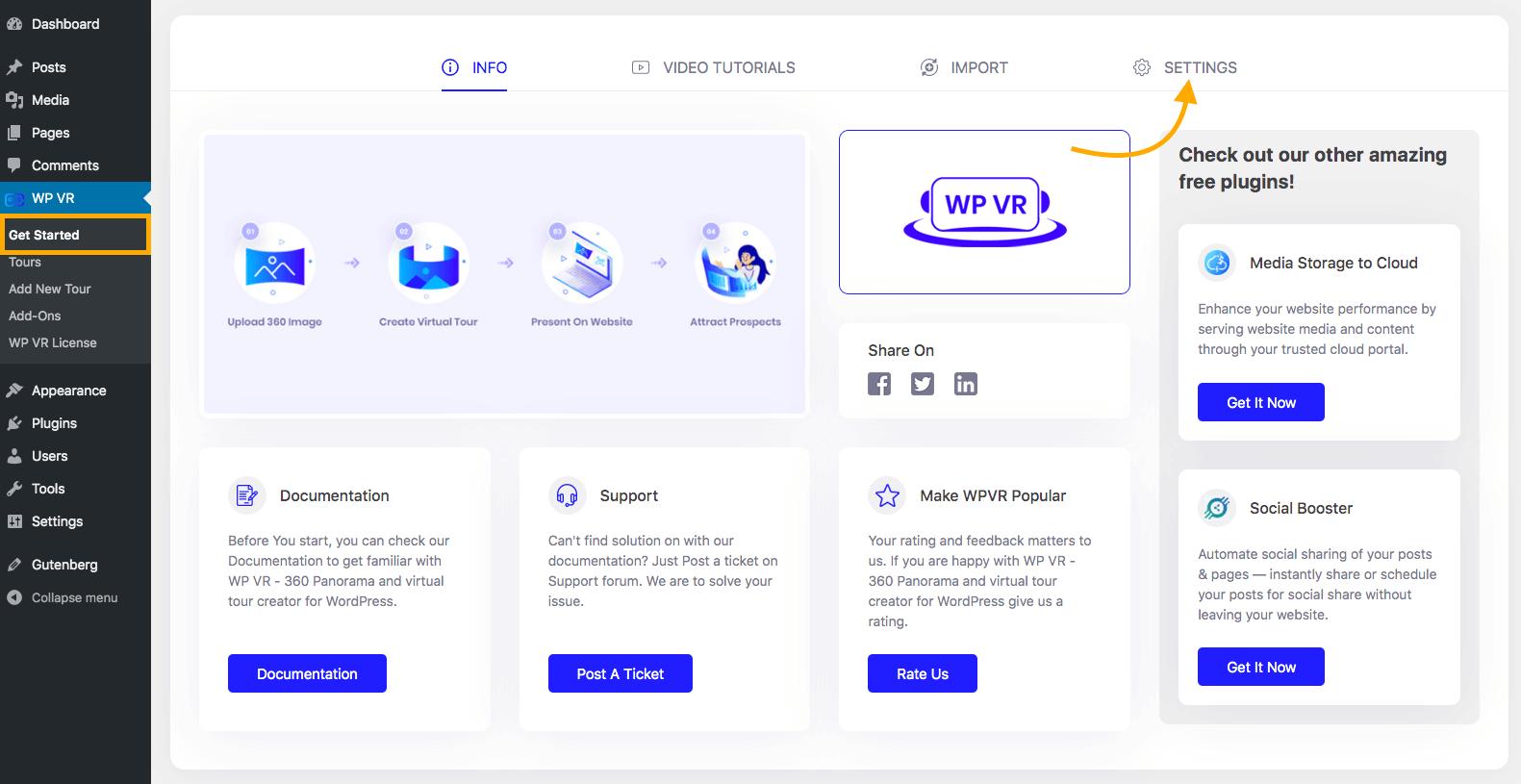WPVR Get Started Page