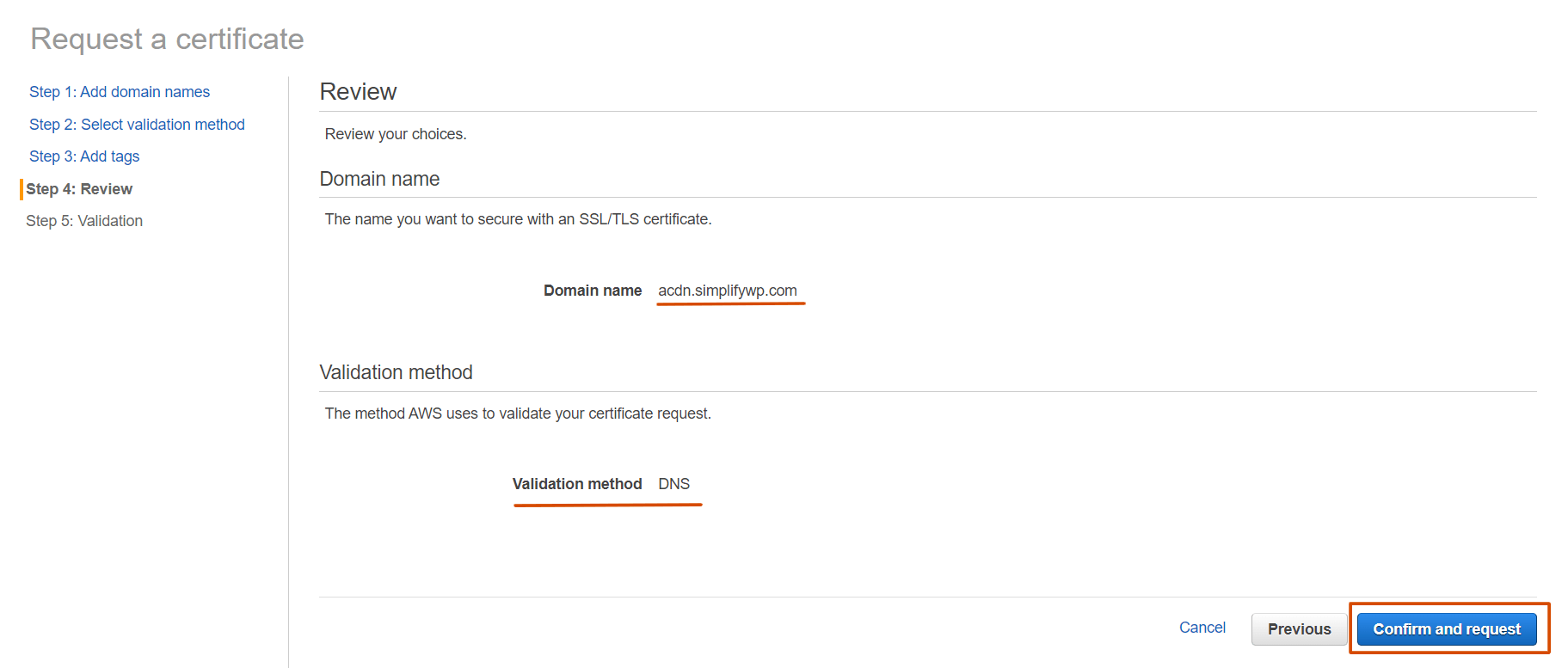 Confirm a Certificate Request