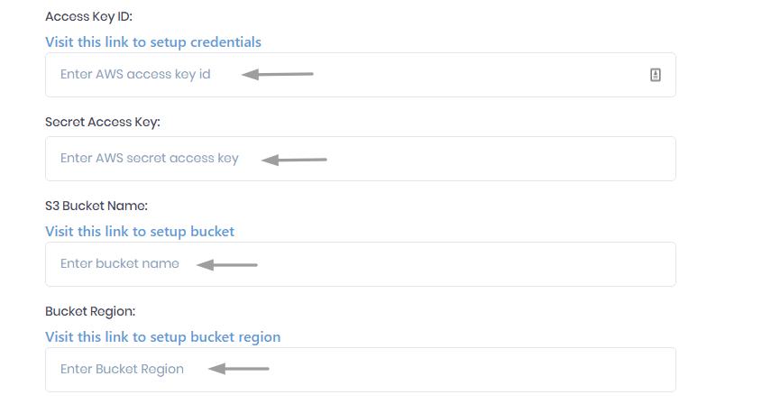 Amazon S3 Bucket Credentials