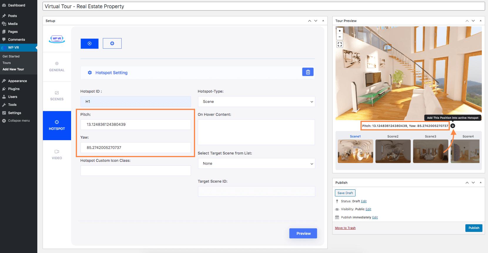 Assign Position for Hotspot