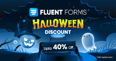 Fluent Forms Halloween Discount Banner