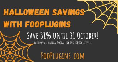 Halloween Savings with FooPlugins