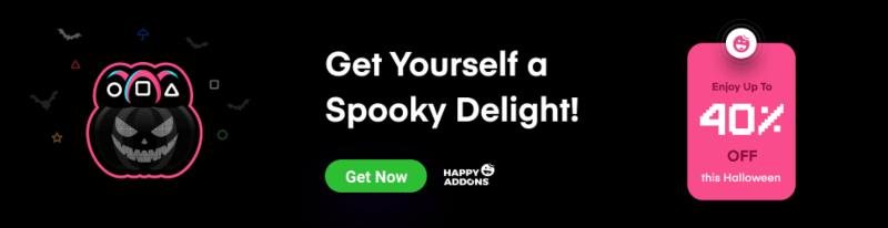 Happy Elementor Addons Halloween Deal