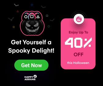 Happy Elementor Addons Halloween Offer