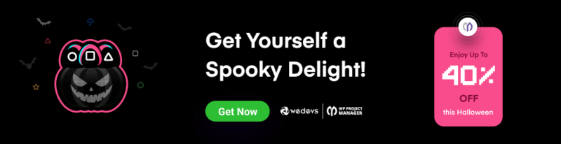 WP Project Manager Pro Halloween Deal