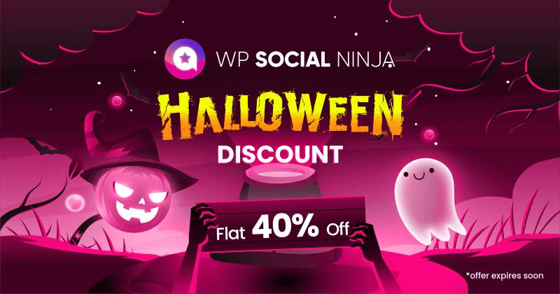 WP Social Ninja Halloween Deal