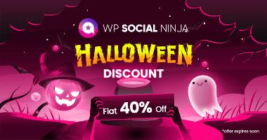 WP Social Ninja Halloween Discount banner