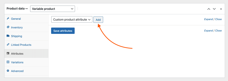 Add custom product attributes
