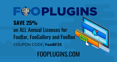 Fooplugins Black Friday Deal