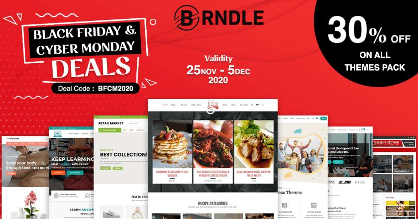 Brndle Themes Black Friday banner