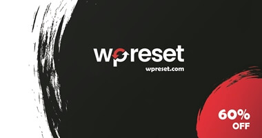 WPreset Black Friday Deals