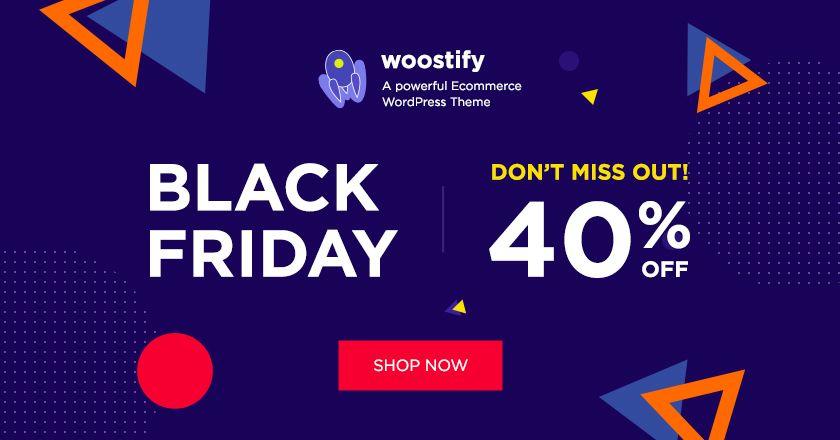 Woostify Black Friday Banner