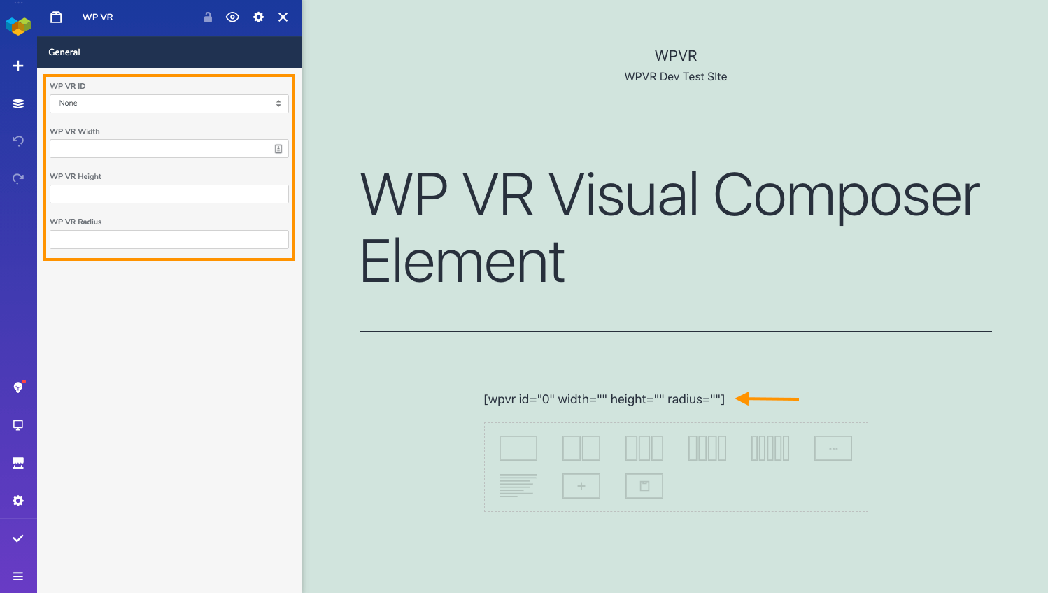Visual Composer Element for Virtual Tours