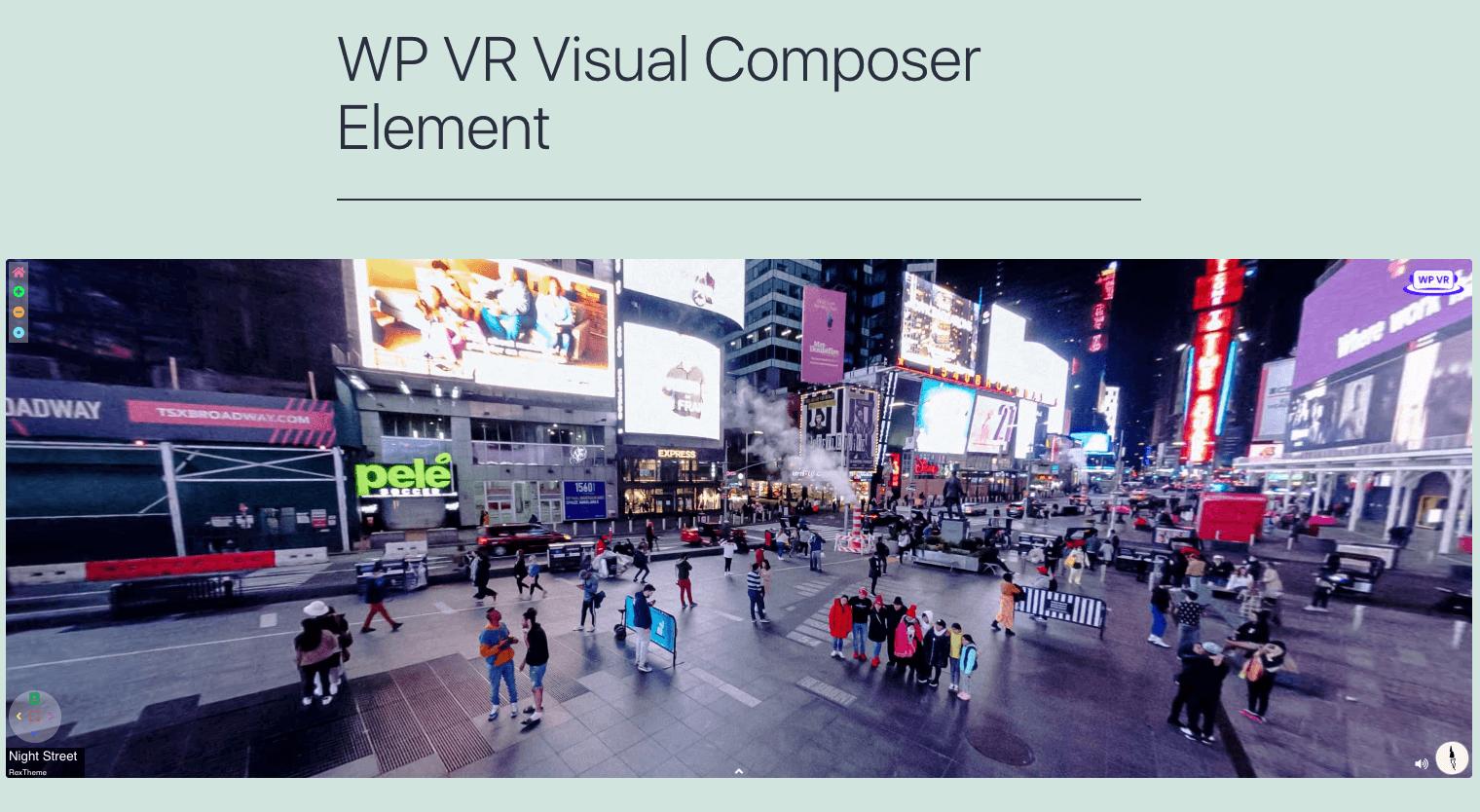 Visual Composer Published Virtual Tour