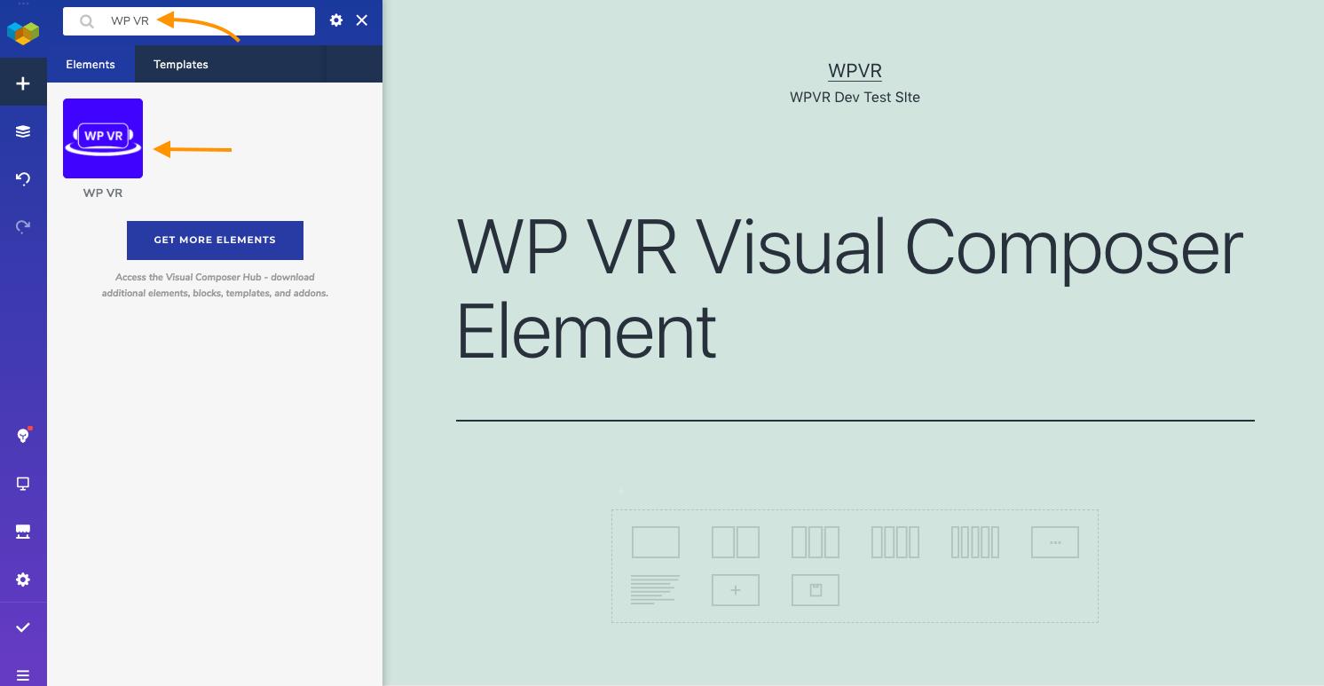 WP VR Visual Composer Element
