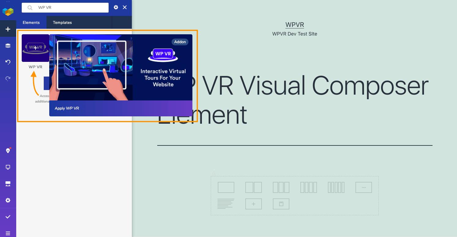 WPVR Visual Composer Element