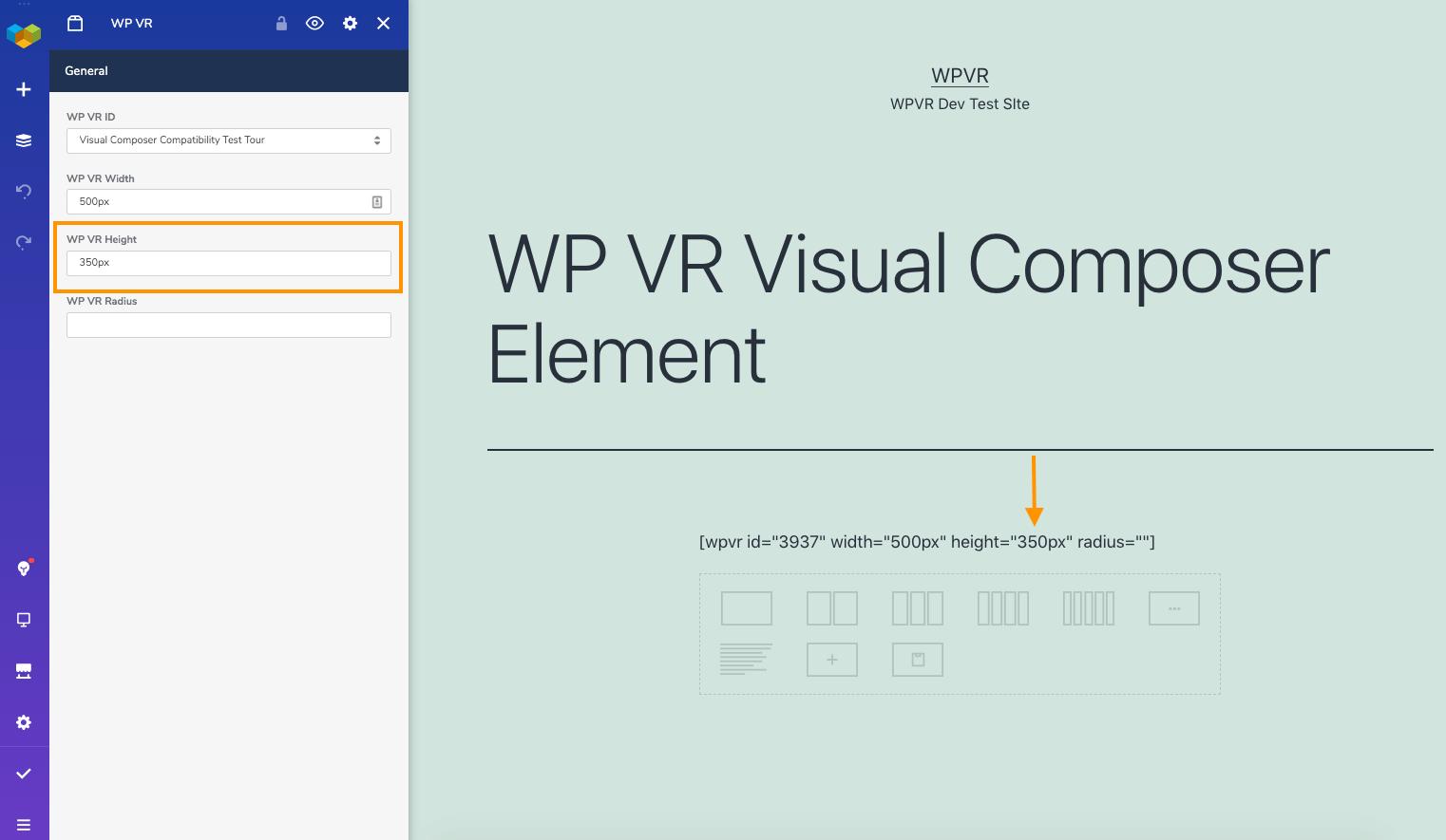 WordPress Virtual Tour Height