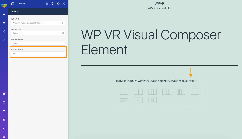 WordPress Virtual Tour Radius