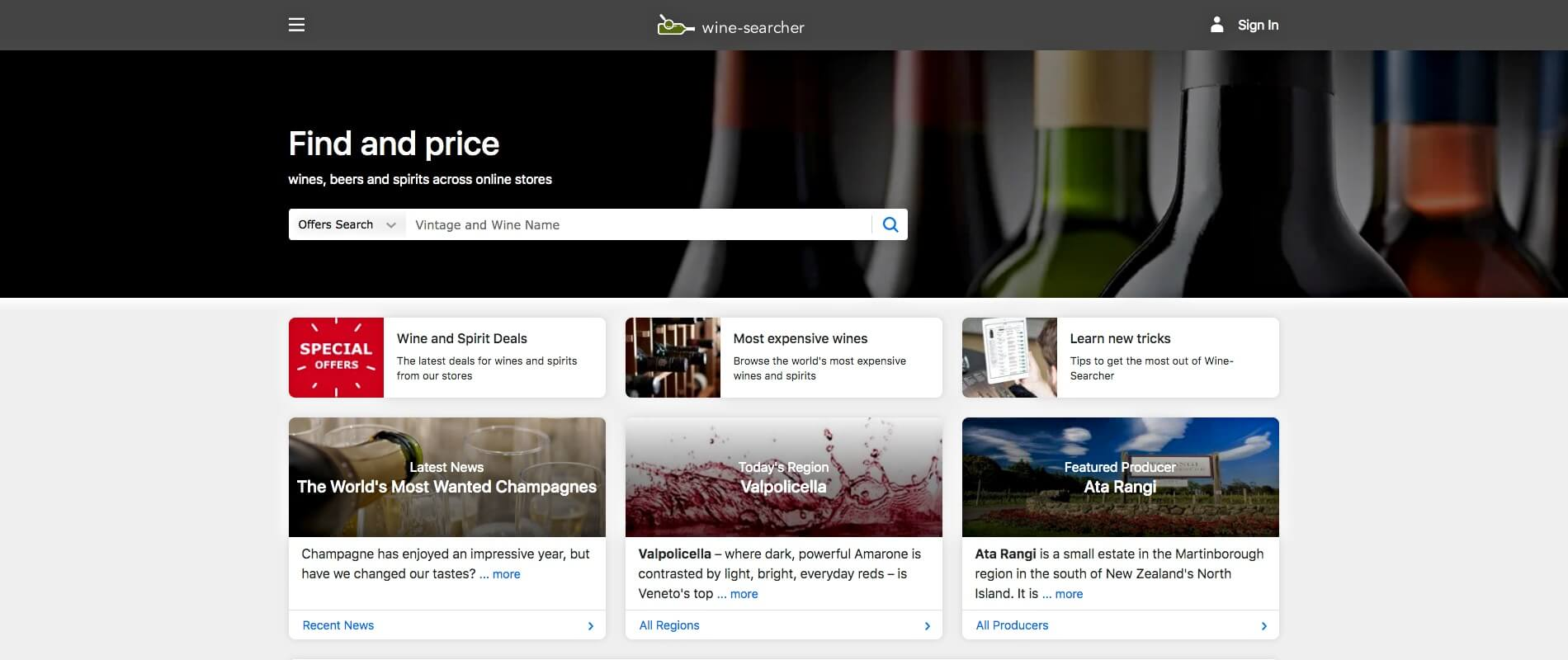 Wine-searcher to sell wine online