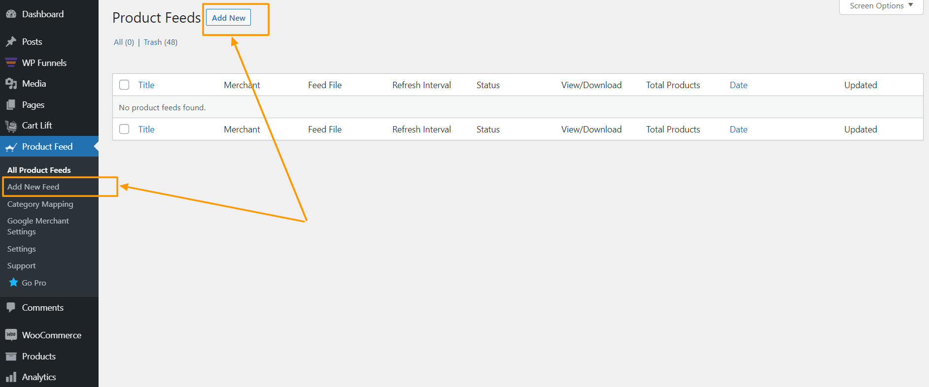 Product Feed Manager Create New Feed