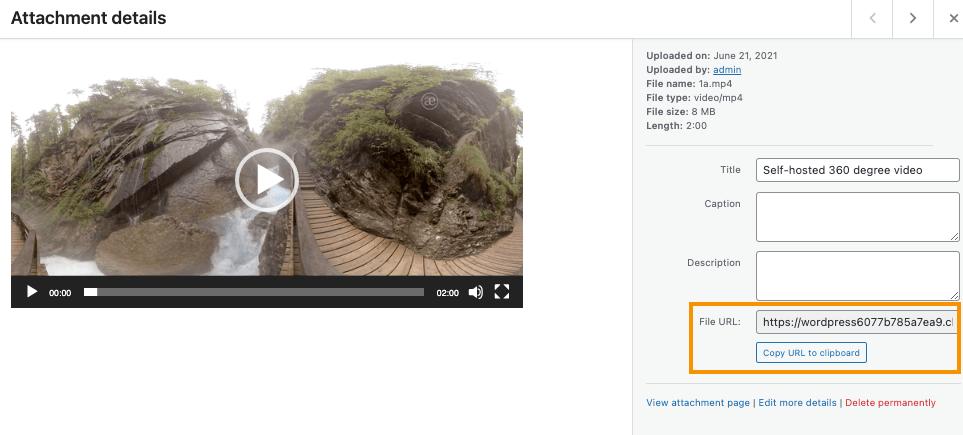360 Degree Interactive Video File
