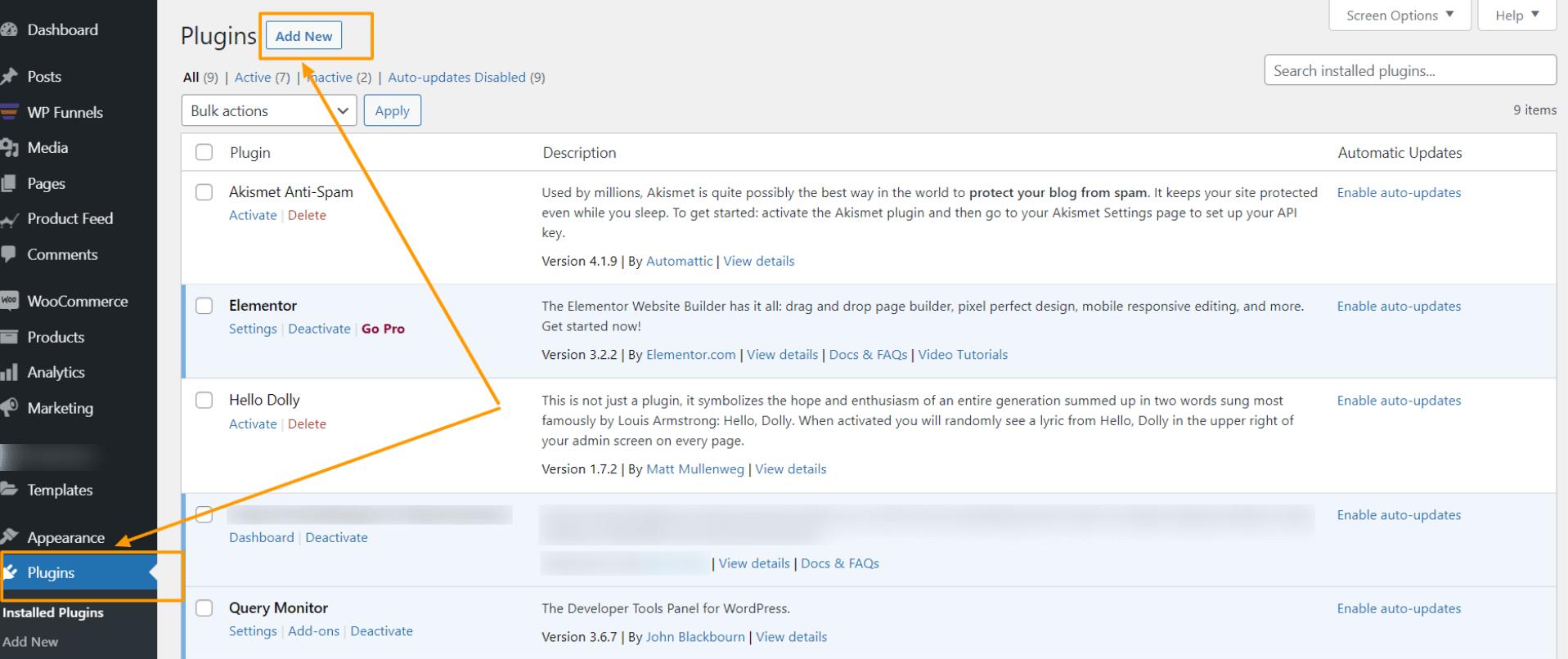 WordPress Dashboard - Add New Plugin