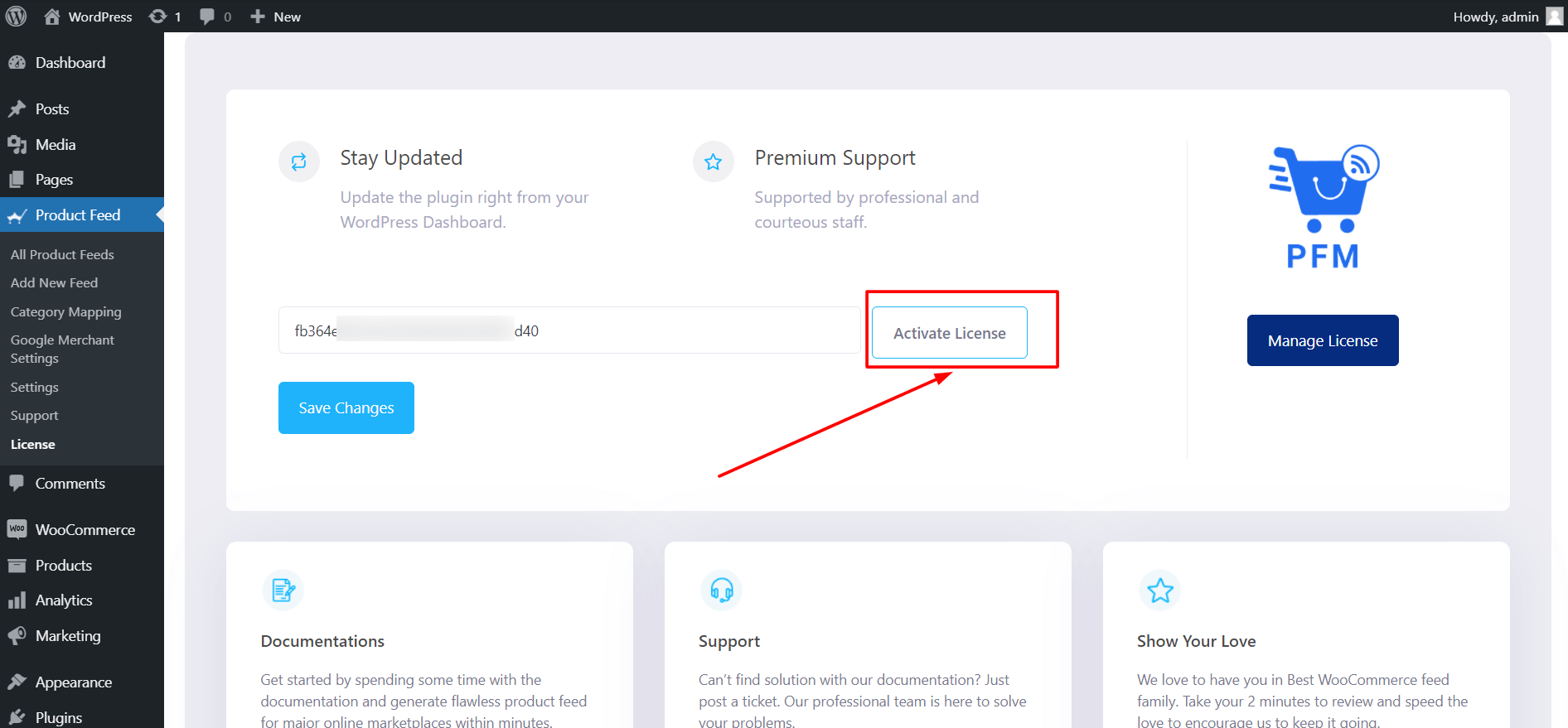 Product Feed Manager Activate License