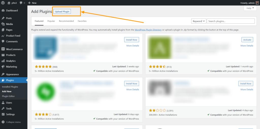 WordPress Add New Plugin