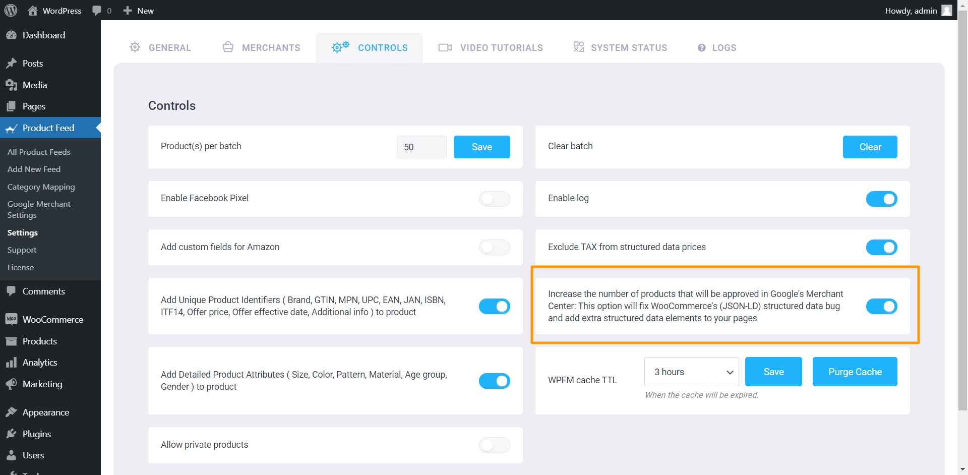 Product Feed Manager Controls - Fix WooCommerce's (JSON-LD) structured data bug