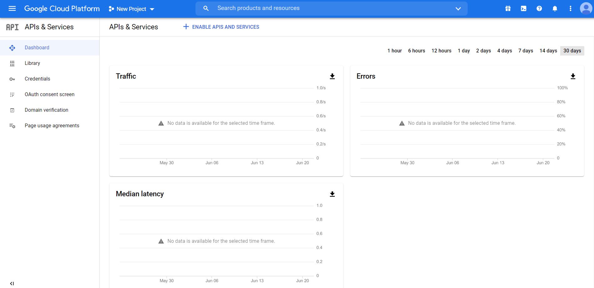 Google Cloud Platform - Create New Project