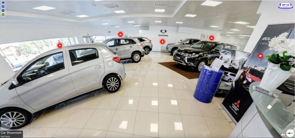 Car showroom virtual tour