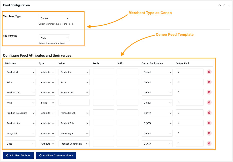 Ceneo XML feed Template