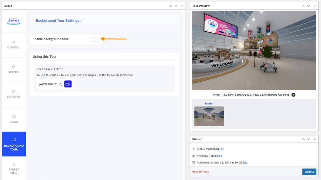 360 Panorama Background Webpage
